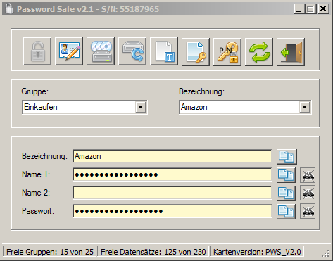 "Screenshot Programm ""Password Safe"""
