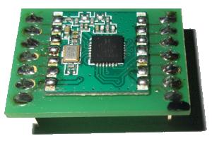 RFM69 Funkmodul auf Adapter gelötet